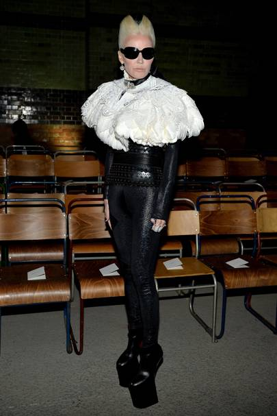 Daphne Guinness at Burberry A/W18