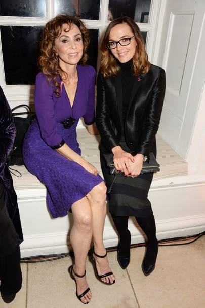 Marie Helvin and Victoria Pendleton