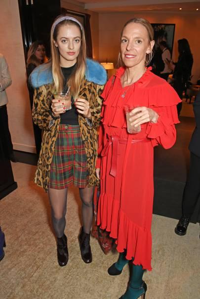 Idina Moncreiffe and Tiphaine de Lussy