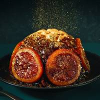 Aldi golden-topped Christmas pudding