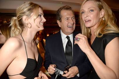 Lily Donaldson, Mario Testino and Uma Thurman