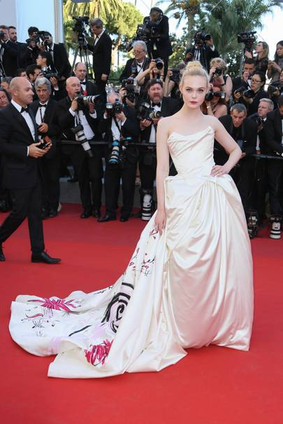 Elle Fanning wearing Vivienne Westwood Haute Couture in 2017