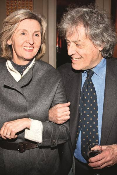 Lady Sophia Topley and Sir Tom Stoppard