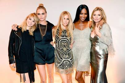 Suki Waterhouse, Cara Delevingne, Sienna Miller, Naomi Campbell and Kate Moss