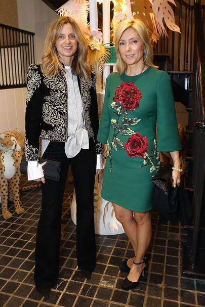 Amanda Brooks and Princess Marie Chantal of Greece