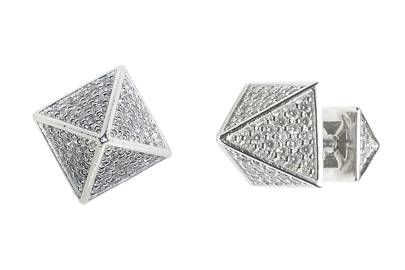Crystal & metal earrings, £144, by Eddie Borgo