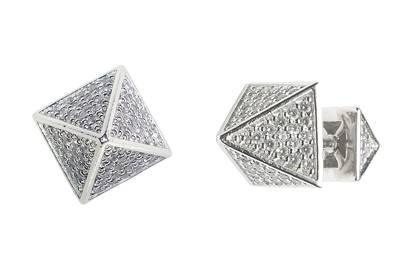 Crystal & metal earrings, £144, by Eddie Borgo