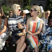 Vanessa Kirby and Emily Blunt at Tory Burch