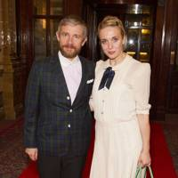 Martin Freeman and Amanda Abbington