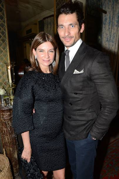 Natalie Massenet and David Gandy