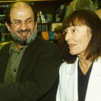 Salman Rushdie and Beryl Bainbridge
