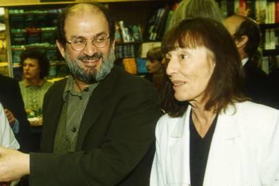 Salman Rushdie and Beryl Bainbridge