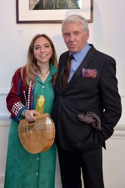 Ayesha Shand and Sir Don McCullin