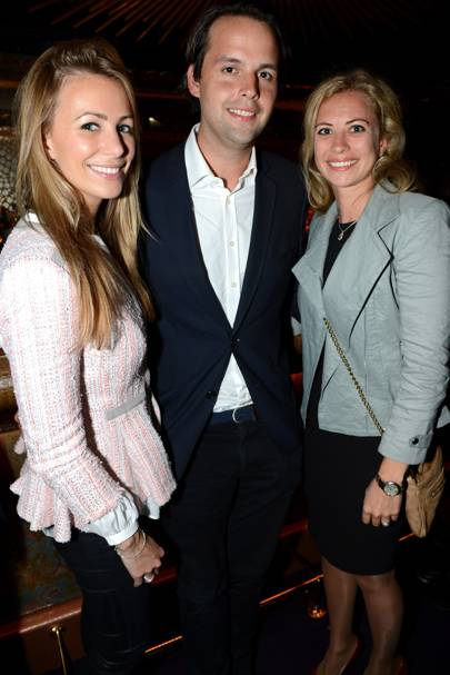 Anneke von Trotha Taylor, Charlie Gilkes and Holly Branson