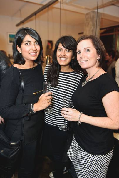 Seema Vithlani, Reshma Vithlani and Kirsty Jones