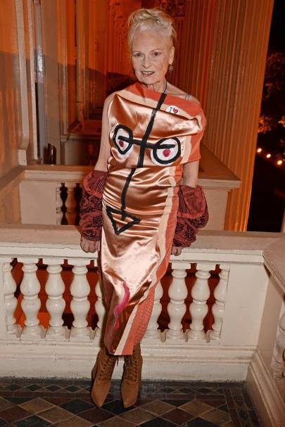 Vivienne Westwood at the annual Friends Of The Institute Of Contemporary Arts dinner.