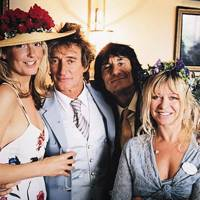 Penny Lancaster, Rod Stewart, Ronnie Wood and Jo Wood