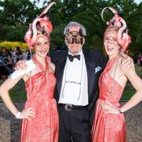 With Mary and Ruth Powys at the Animal Ball in 2013