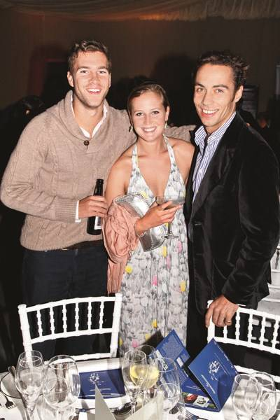 Will Gibson, Francesca del Balzo and James Middleton