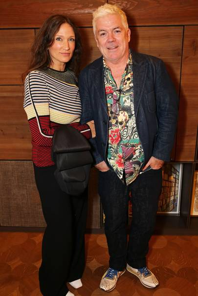 Lulu Kennedy and Tim Blanks