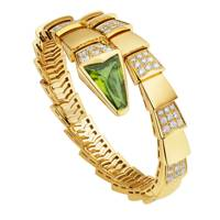 Peridot, yellow gold and diamond bracelet, from £23,500, Bulgari