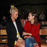 Poppy Delevingne and Alexa Chung at Burberry A/W18