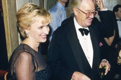 Tina Brown and John Mortimer