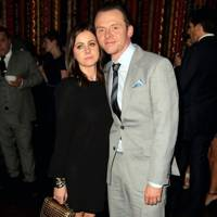 Maureen McCann and Simon Pegg