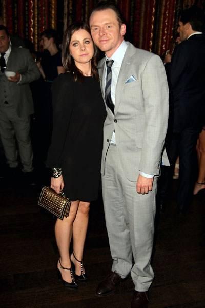 Maureen McCann and Simon Pegg