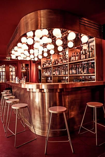 The cocktail bar at Hôtel des Grands Boulevards hotel