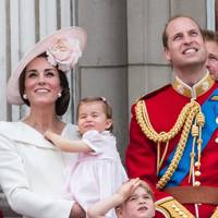 The Duchess of Cambridge, Princess Charlotte, Prince George and the Duke of Cambridge