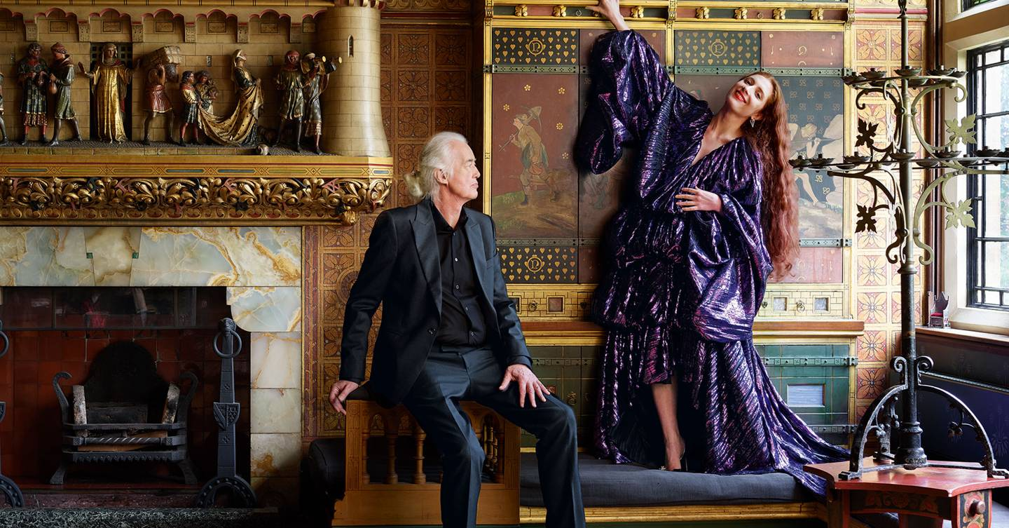 As the Rolling Stones release their new hit Scarlet, the song's writer – Led Zeppelin's Jimmy Page – and his girlfriend Scarlett Sabet welcome Tatler to their Gothic castle