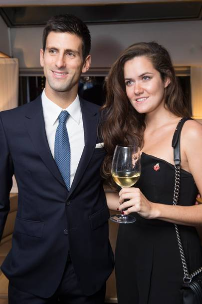 Novak Djokovic and Rose Thomas