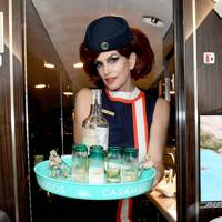 Cindy Crawford as a flight attendant, 2018