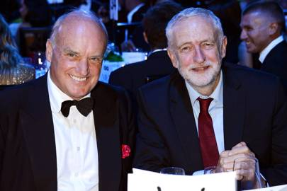 Nicholas Coleridge and Jeremy Corbyn