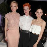 Cate Blanchett, Sandy Powell and Rooney Mara
