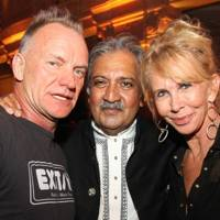 Sting, the Maharaja of Jodhpur and Trudie Styler