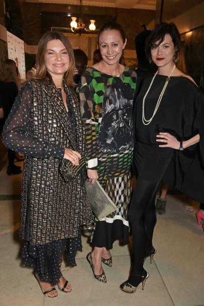 Natalie Massenet,  Caroline Rush and Jasmine Guinness