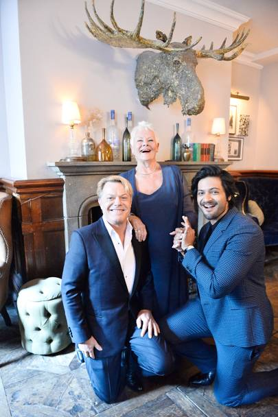 Eddie Izzard, Dame Judi Dench and Ali Fazal