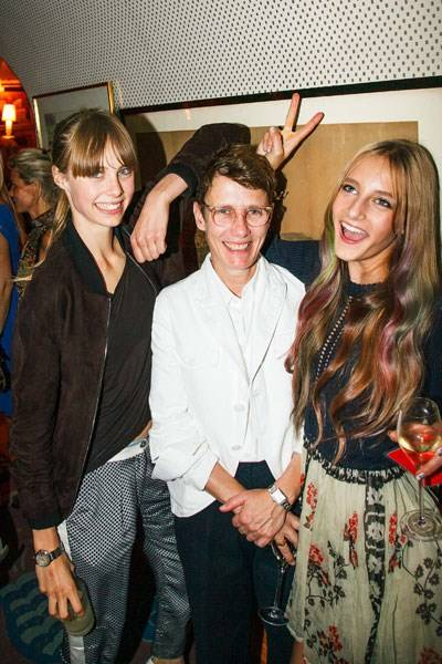 Edie Campbell, Sophie Hicks and Olympia Campbell
