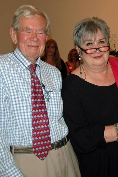 Monty Cairns and Dame Jenni Murray