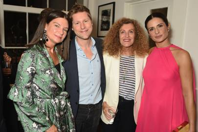 Dame Natalie Massenet, Christopher Bailey, Nicole Farhi and Livia Firth