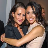 Jessica Mulroney and actress Meghan Markle attend the World Vision event held at Lumas Gallery on March 22, 2016