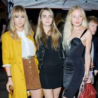 Suki Waterhouse, Cara Delevingne and Clara Paget