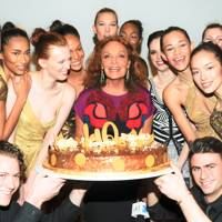 Karen Elson, Karlie Kloss, Diane von Furstenberg and Joan Smalls