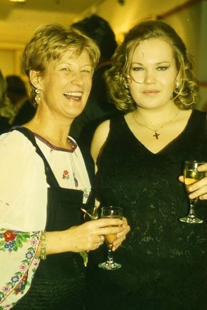 Mrs Johnnie von Pflugl and Alexandra Woodall