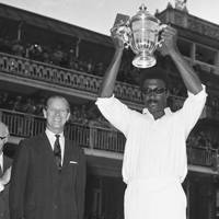 Prince Philip with West Indies cricket captain Clive Lloyd, 1975