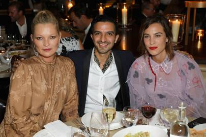 Kate Moss, Imran Amed and Alexa Chung