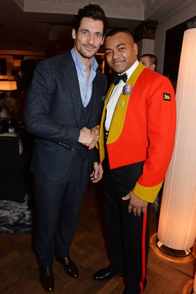 David Gandy and Lance Corporal Johnson Beharry VC