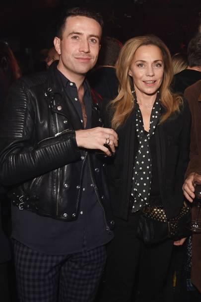 Nick Grimshaw and Jeanne Marine